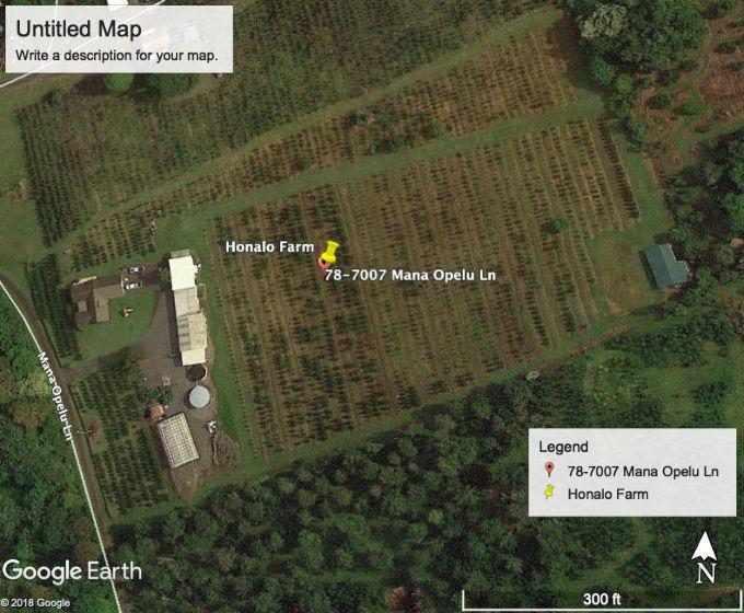About Honalo Farm : Zen Cart!, The Art of E-commerce on kona beach map, kona snorkeling map, kona restaurant map, volcanoes national park map, kona coffee farm map, kona port map, kona coffee tour map, kona bicycle map,
