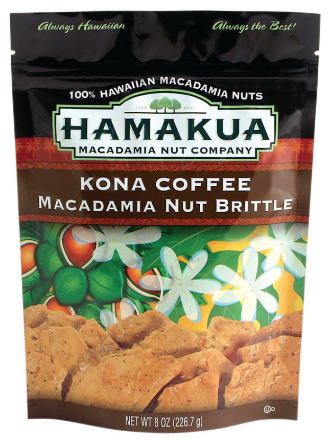 Kona Coffee Macadamia Nut Brittle, 8-oz Pouch